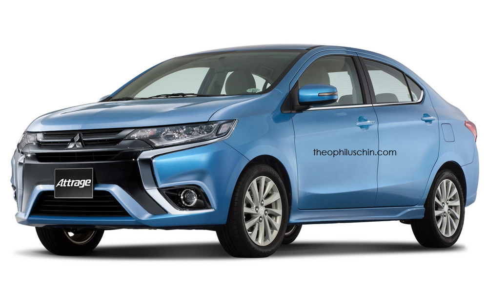 Mitsubishi Attrage Receives Outlander's Styling Cues, Is ...