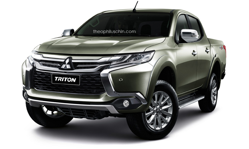 mitsubishi l200/triton wearing pajero sport's face makes one badass