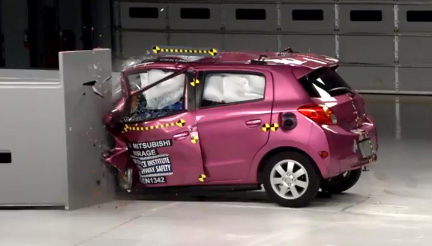 Mitsubishi Mirage Fails IIHS Tests… in Pink - autoevolution