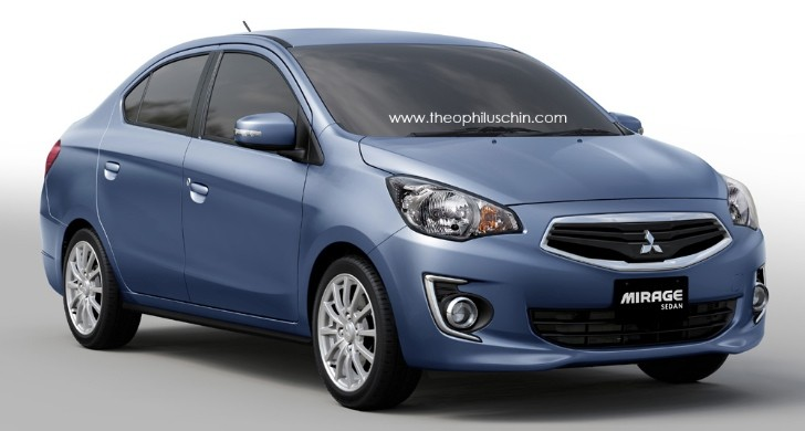 Mitsubishi Mirage Sedan Rendering