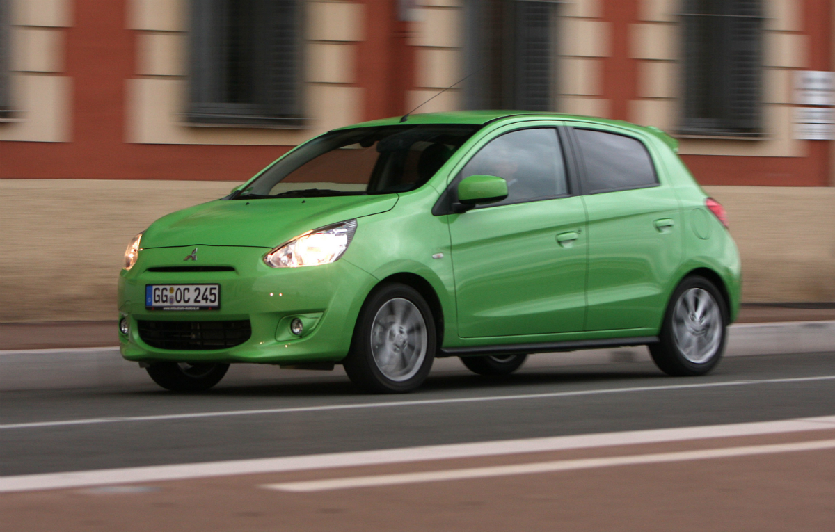 mitsubishi mirage to be sold as space star in europe. Black Bedroom Furniture Sets. Home Design Ideas