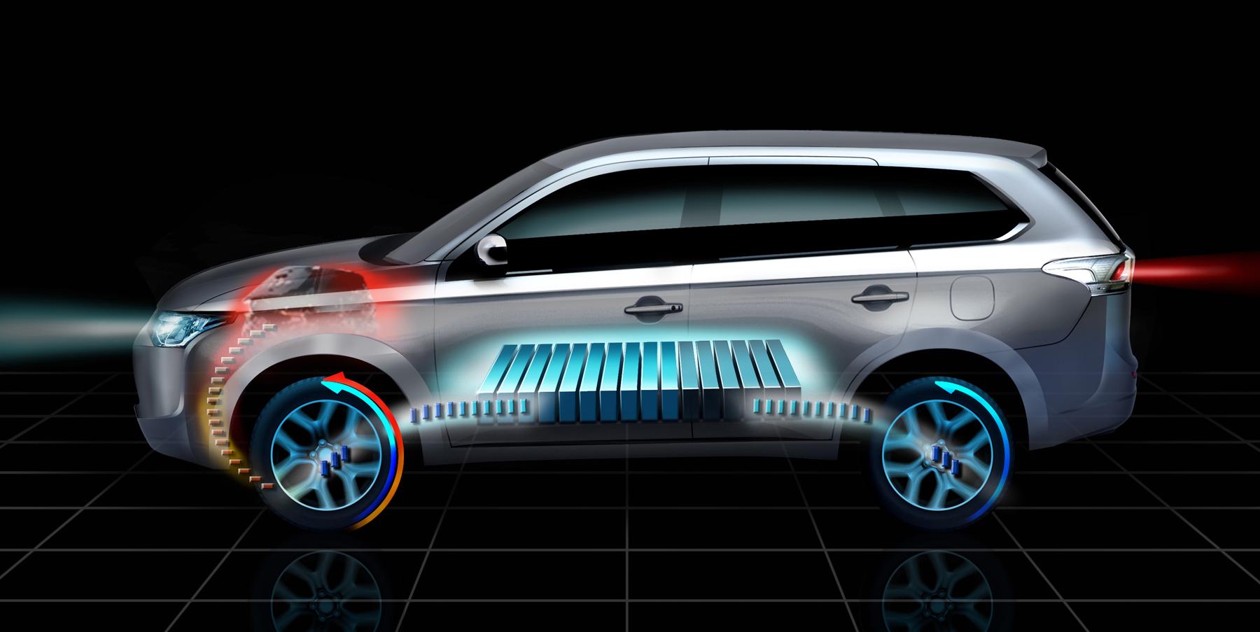 mitsubishi outlander plug in hybrid us debut delayed until 2015 autoevolution. Black Bedroom Furniture Sets. Home Design Ideas