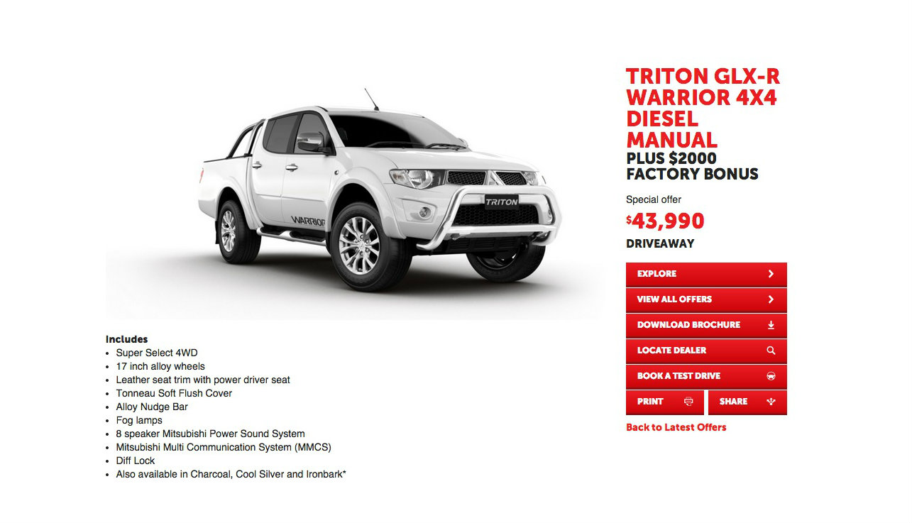 Mitsubishi Triton Glx R Warrior Is Limited To 300 Examples
