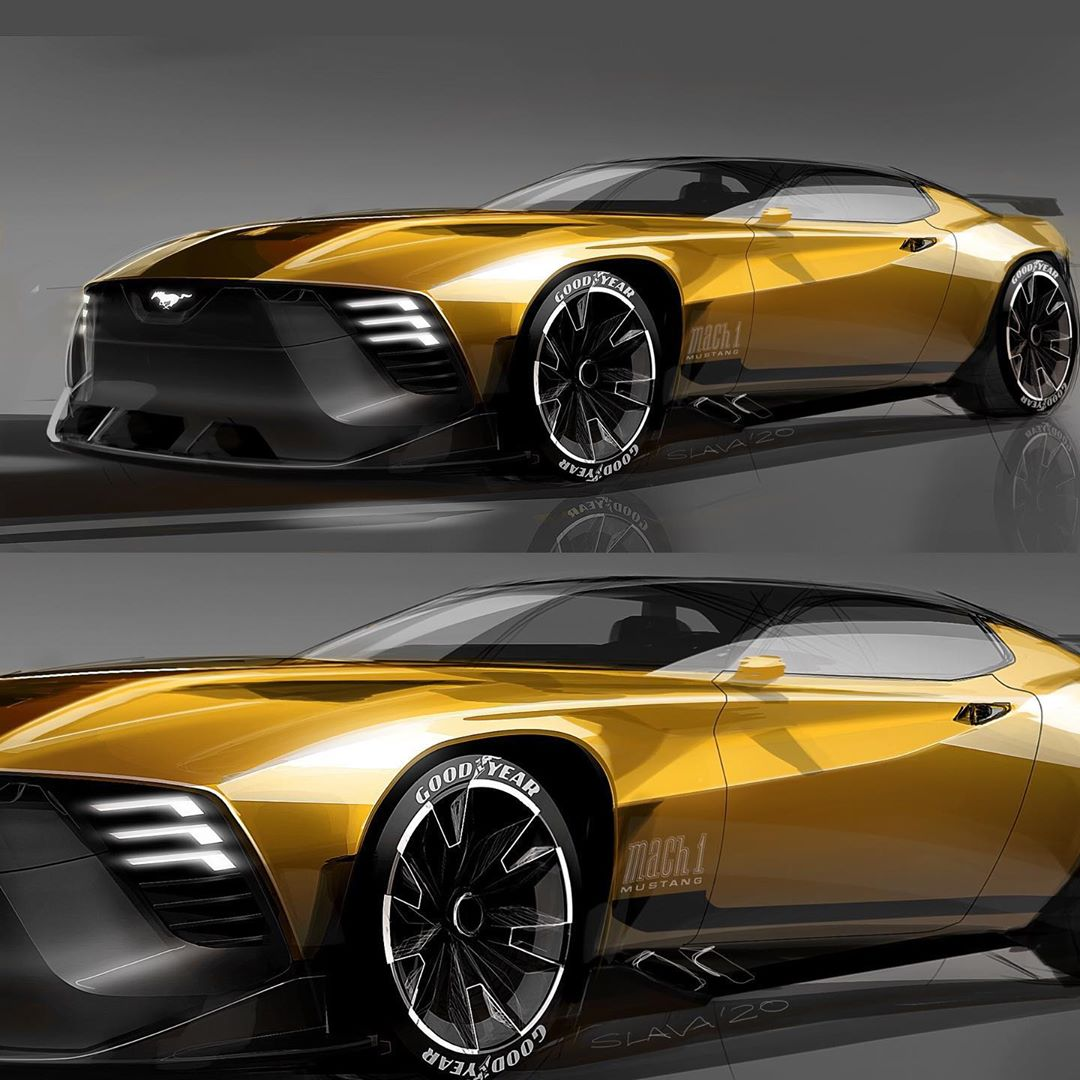 Modern Ford Mustang Mach 3 Shows Retro-Futuristic Vibes