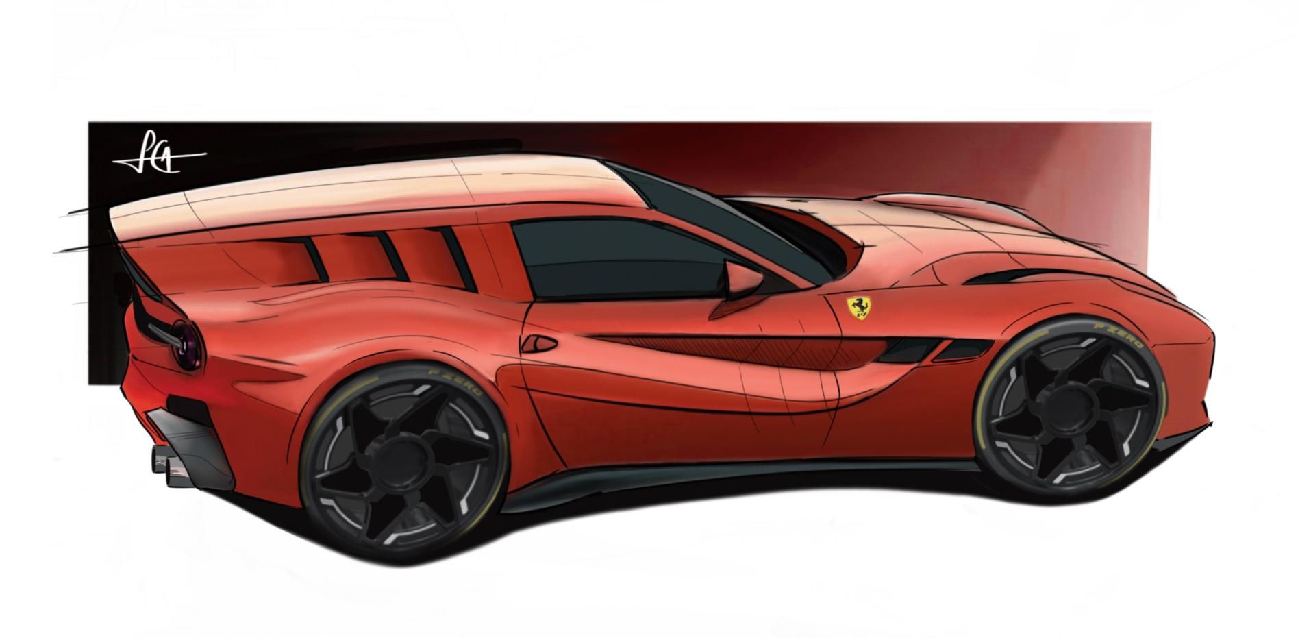 Modernized Ferrari Breadvan Imagined With F12 Underpinnings Autoevolution