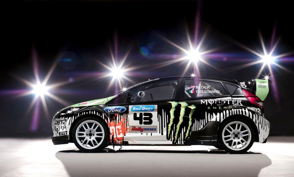 monster world rally team reveals car livery for ken block in 2010   autoevolution