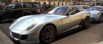 More Supercar Spotting: Baby Blue Ferrari 599 GTO [Video]