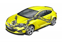 High tech front suspension for all Astra GTC versions