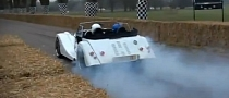 Morgan Plus 8 Burnout Video
