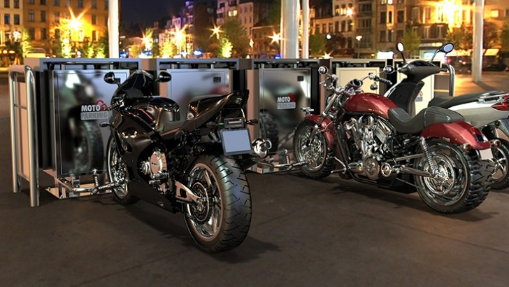 Moto Parking, the Coolest Idea so Far [Photo Gallery]