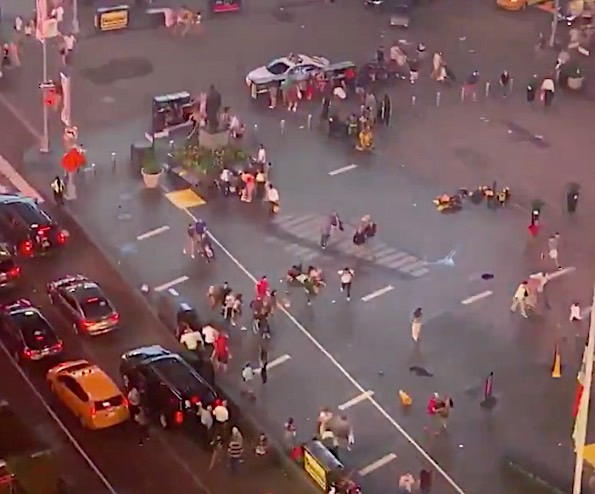 Motorcycle Engine Backfire Leads to Mass Panic in Times