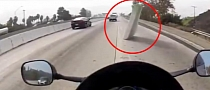 Motorcycle Rider Escapes Almost Certain Death by Sheer Luck [Video]