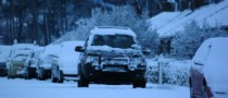 Motorists Stuck on the Roads after Snow Storm Hit Britain