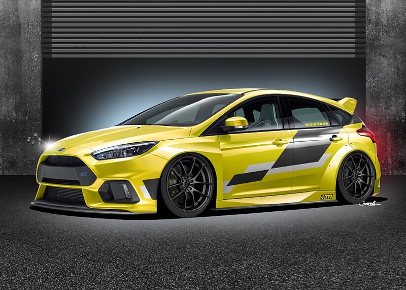 mountune 2016 focus rs: tuner comissioned this widebody render, is
