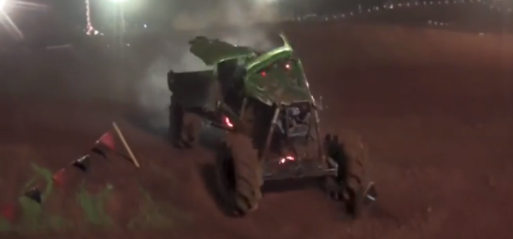 Mud Monster Truck Destroyed After Getting Massive Air [Video]