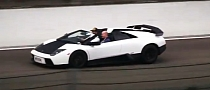 Murcielago Roadster Looks Good on the Track! [Video]