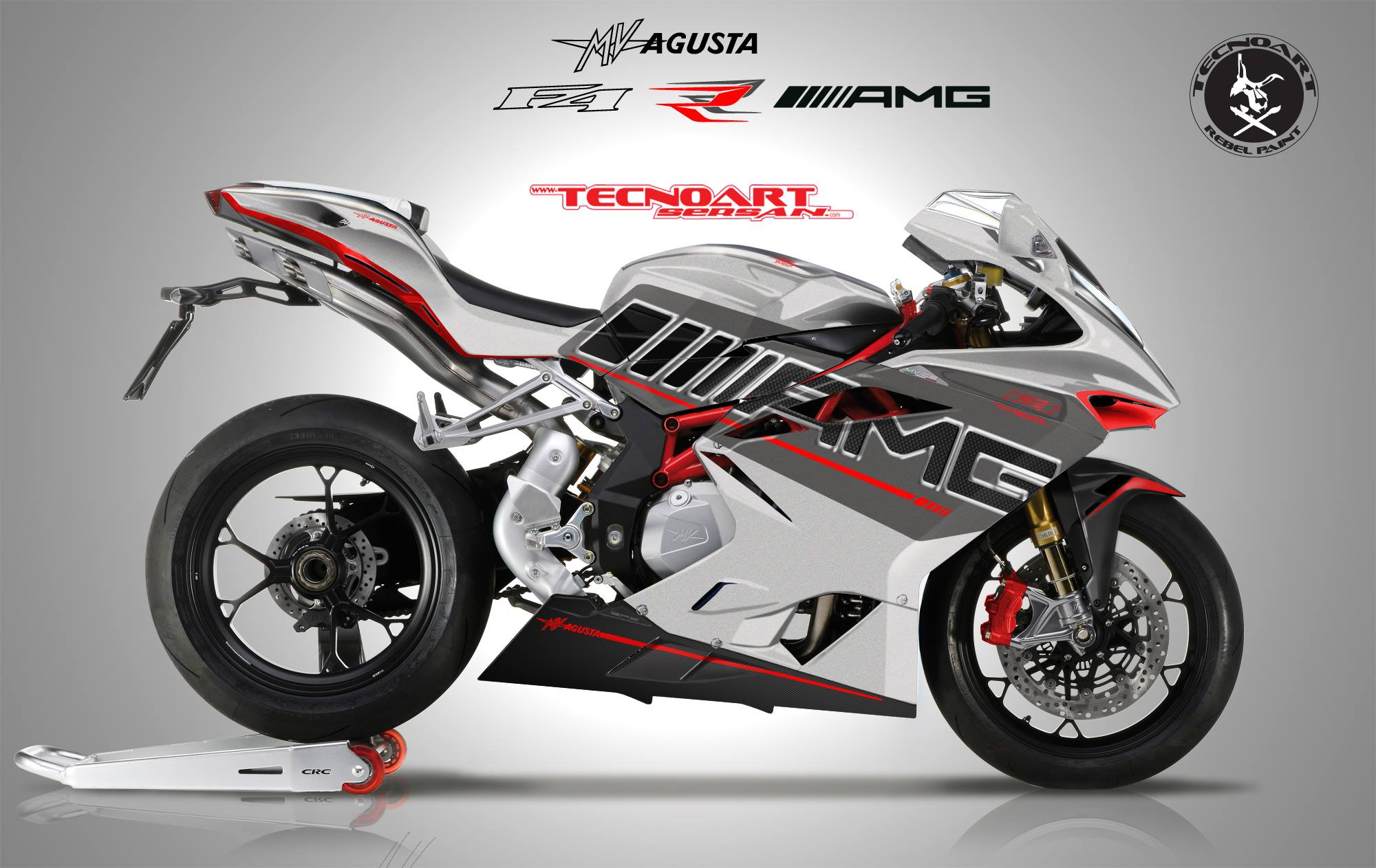 mv agusta f4 rr amg revealed by tecnoart sersan autoevolution. Black Bedroom Furniture Sets. Home Design Ideas
