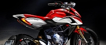 MV Agusta Shows Rivale Bike Sketch