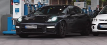 Mystery 2014 Panamera With Roll Cage Spotted. Turbo S or Pajun? [Video]