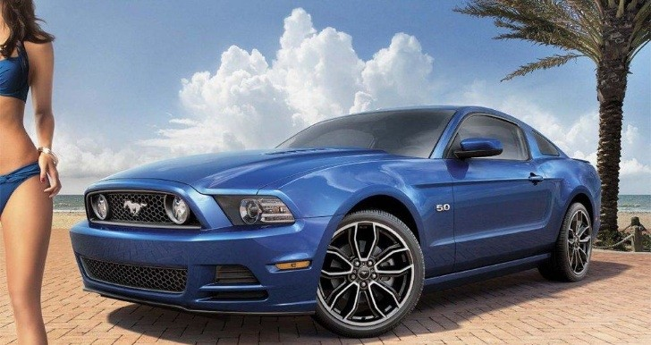 Mystery Sports Illustrated Model Promotes 2013 Ford Mustang