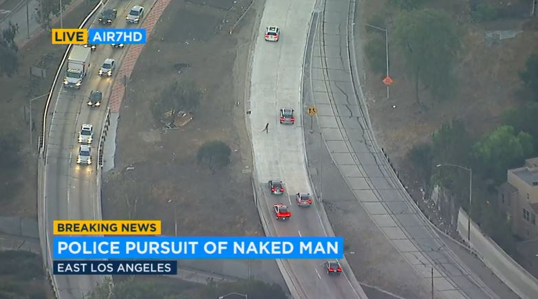 Naked Man Steals Truck, Leads LAPD on Wild Chase by Car And on Foot