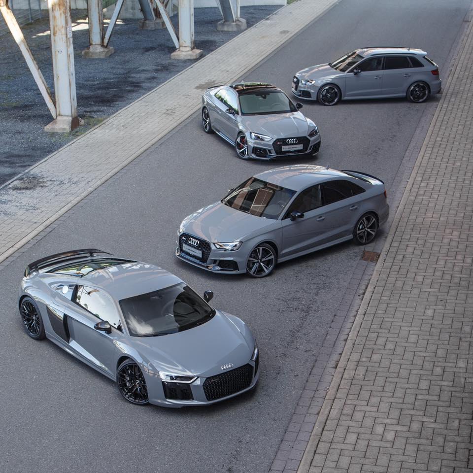 Audi A3 Sedan Custom >> Nardo Grey Family Photo: Audi R8, RS3 Sedan, RS5 and RS3 Hatch - autoevolution