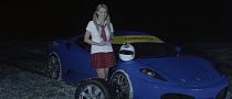 Natalia Freidina Hoons a Ferrari in Schoolgirl Costume [Video]