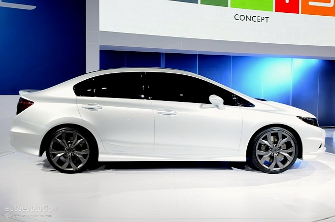 The New Civic Is On Display At The 2011 North American Show