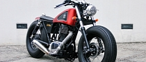 Bobber Perfection: Naughty Red Suzuki Boulevard S40 from Studio Motor [Photo Gallery]