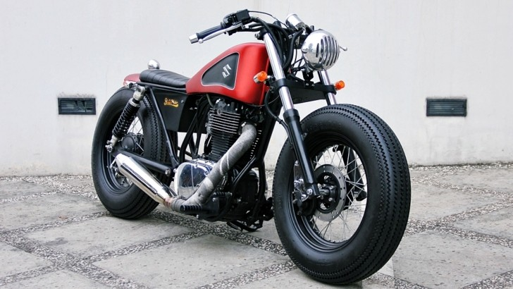Boulevard Bobber http://www.autoevolution.com/news/bobber-perfection-naughty-red-suzuki-boulevard-s40-from-studio-motor-photo-gallery-58816.html