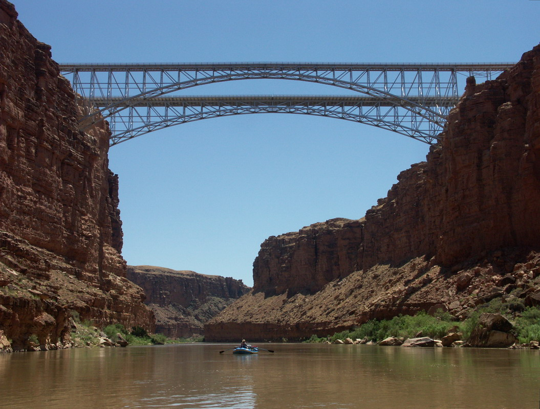 Navajo Bridge Crossing The Grand Canyon By Car