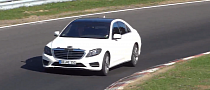 Nearly Undisguised W222 Mercedes S-Class at the 'Ring [Video]