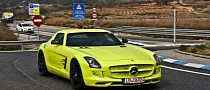 Neon Yellow SLS AMG E-Cell Spotted [Video]