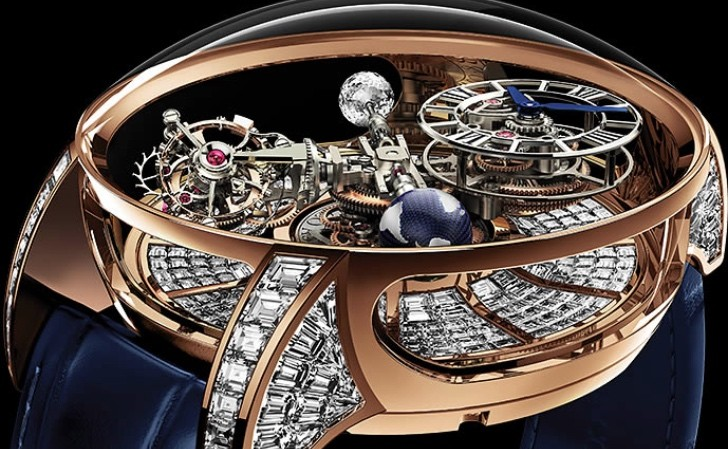 New 1 Million Dollar Astronomia Tourbillon Baguette Watch