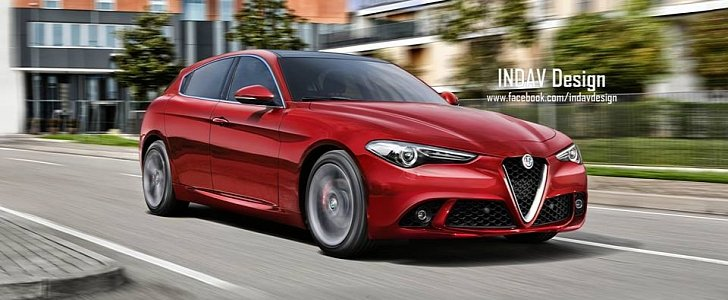 new 2019 alfa romeo giulietta rendered as rwd delight with a pretty face autoevolution. Black Bedroom Furniture Sets. Home Design Ideas