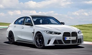 New 2021 BMW M3 Rendered Based on Leaked Photos, Huge Grille Is Here