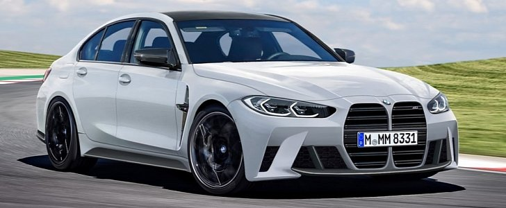 New 2021 BMW M3 Rendered Based on Leaked Photos, Huge Grille Is Here - autoevolution