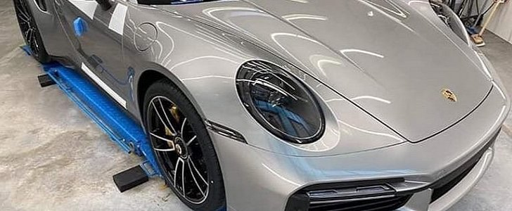 New 2021 Porsche 911 Turbo S Spotted at Factory, Looks Amazing in GT Silver