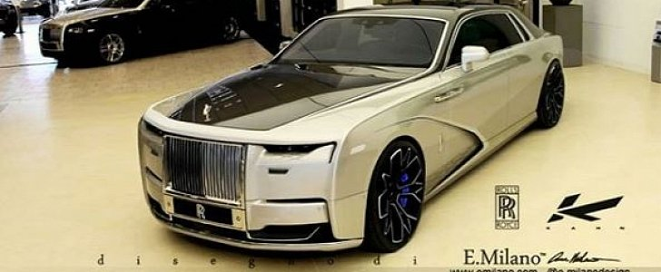 New 2021 Rolls-Royce Ghost Rendered with Tuner Look, Kahn Wheels