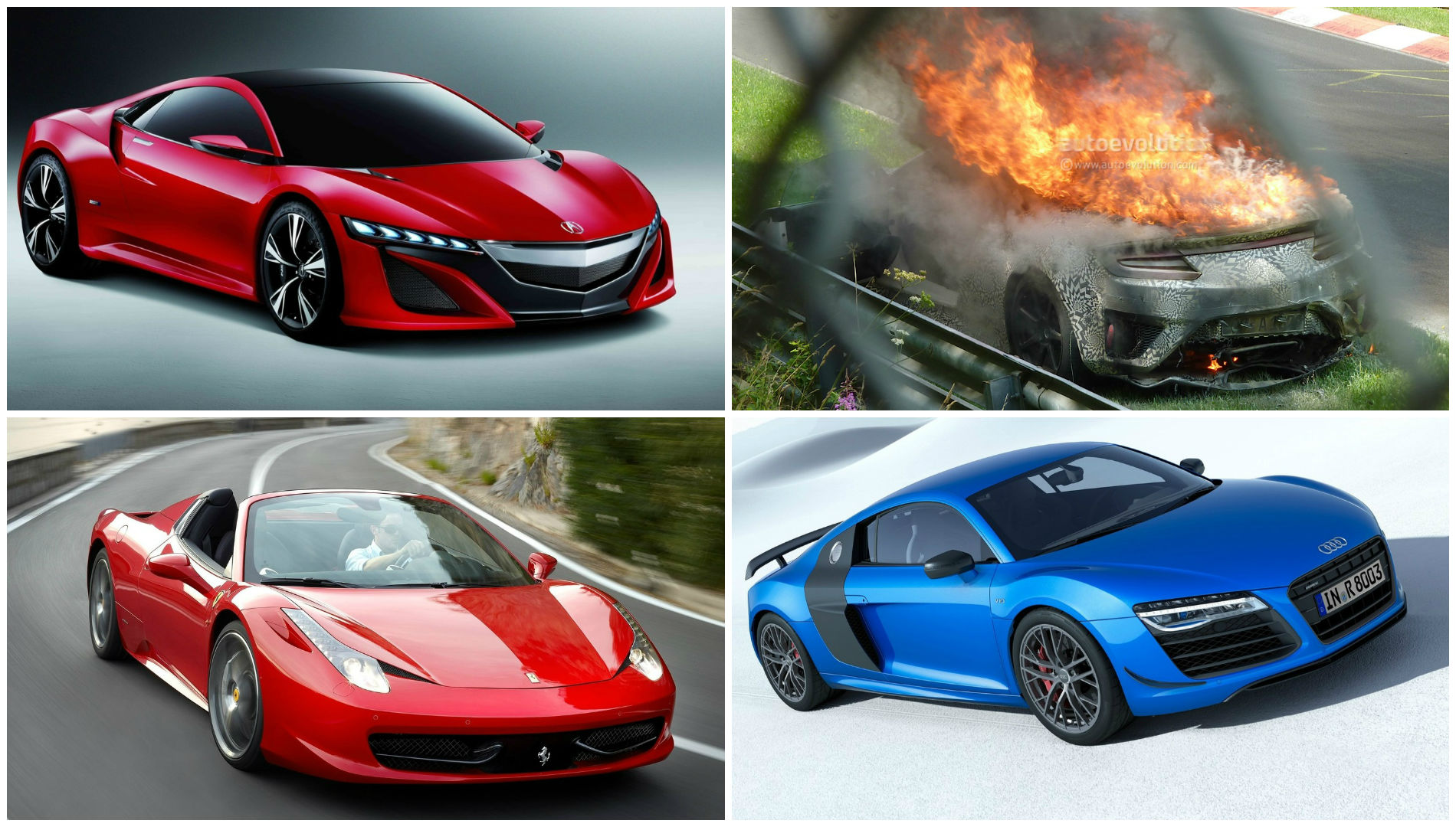 new acura nsx ferrari 458 performance at audi r8 prices autoevolution. Black Bedroom Furniture Sets. Home Design Ideas