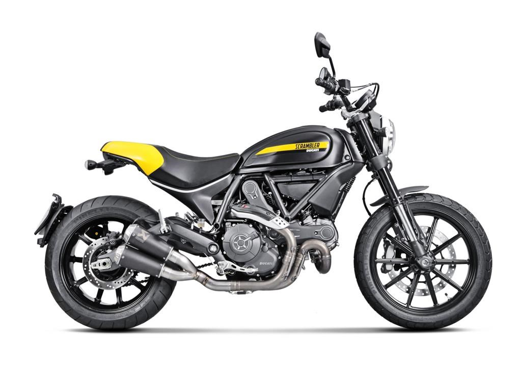 new akrapovic for ducati scrambler releases the beast