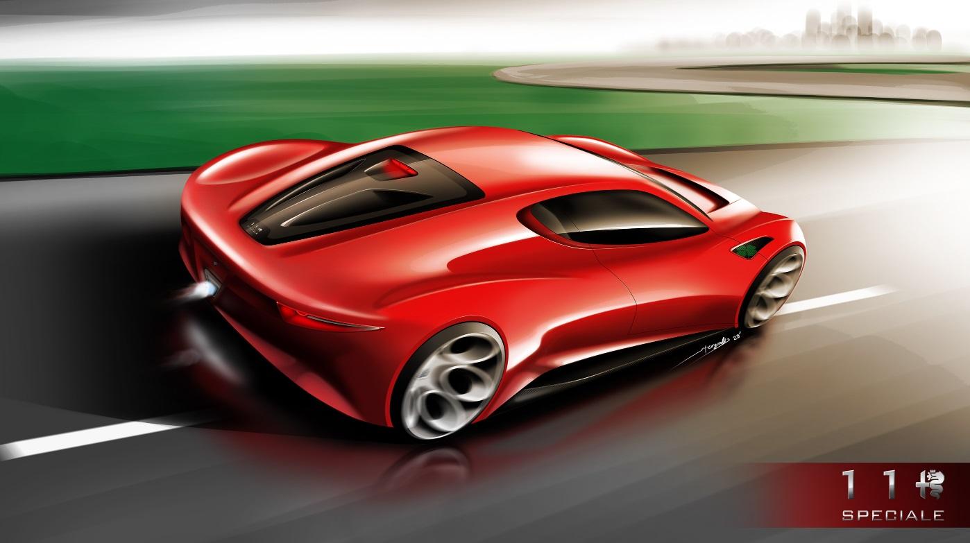 New Alfa Romeo Supercar Rendered With Tipo 33 Design Influences Autoevolution