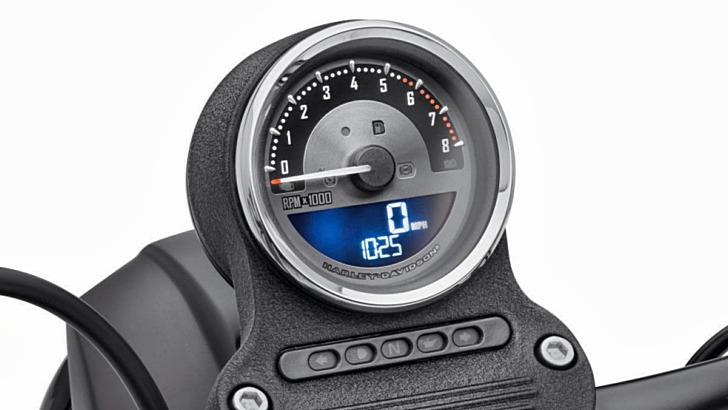 New and Extremely Cool Multi-Color Harley Sportster Custom Speedo Available