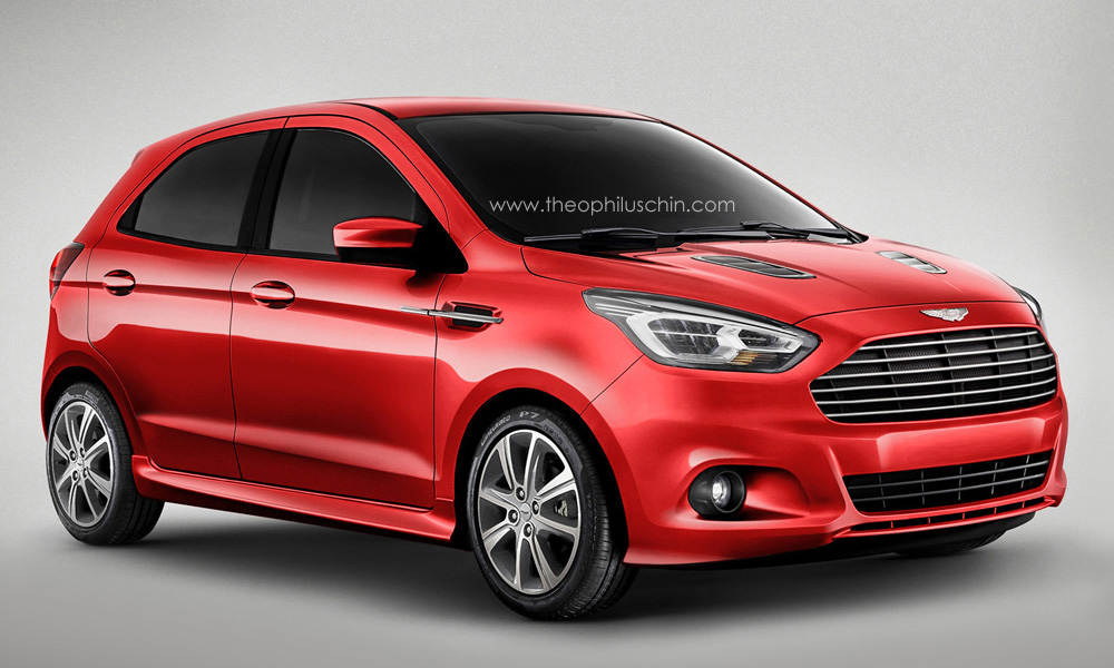 new aston martin cygnet rendered based on ford ka. Black Bedroom Furniture Sets. Home Design Ideas
