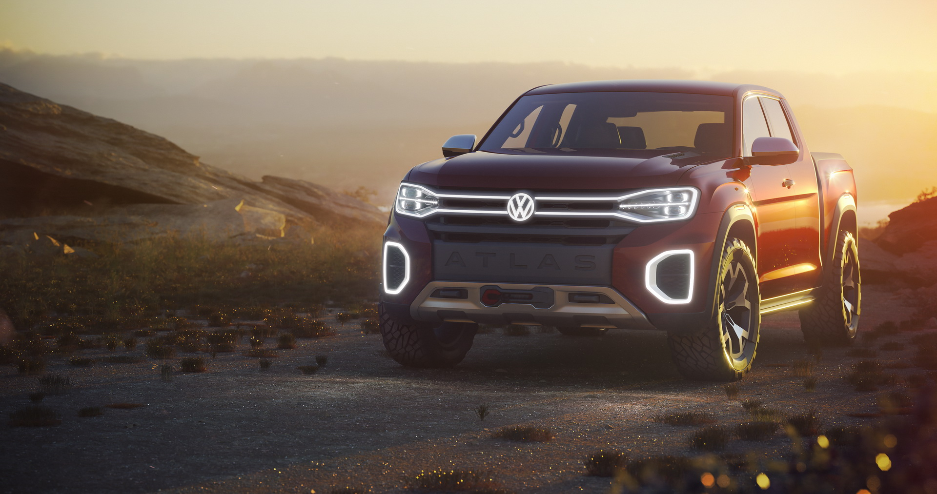 new atlas tanoak pickup concept shows volkswagen wants america back autoevolution. Black Bedroom Furniture Sets. Home Design Ideas