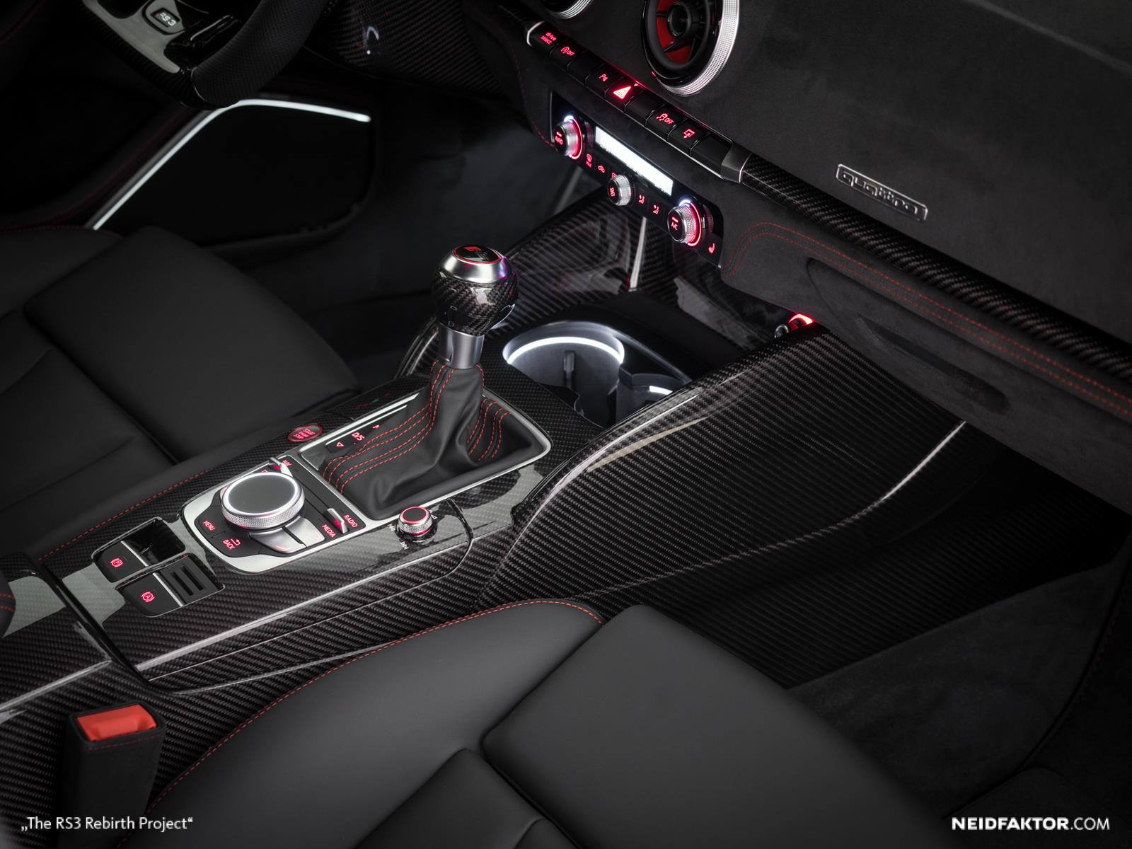 New Audi RS3 Gets Carbon Fiber and Alcantara Interior from Neidfaktor ...