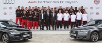 New Audi Vehicles for FC Bayern Players