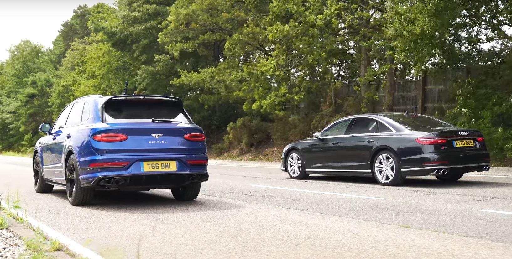 New Bentley Bentayga Drag Races Audi S8 Humiliation Follows Autoevolution