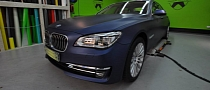 New BMW 760Li Wrapped in Night Blue Metallic [Photo Gallery]