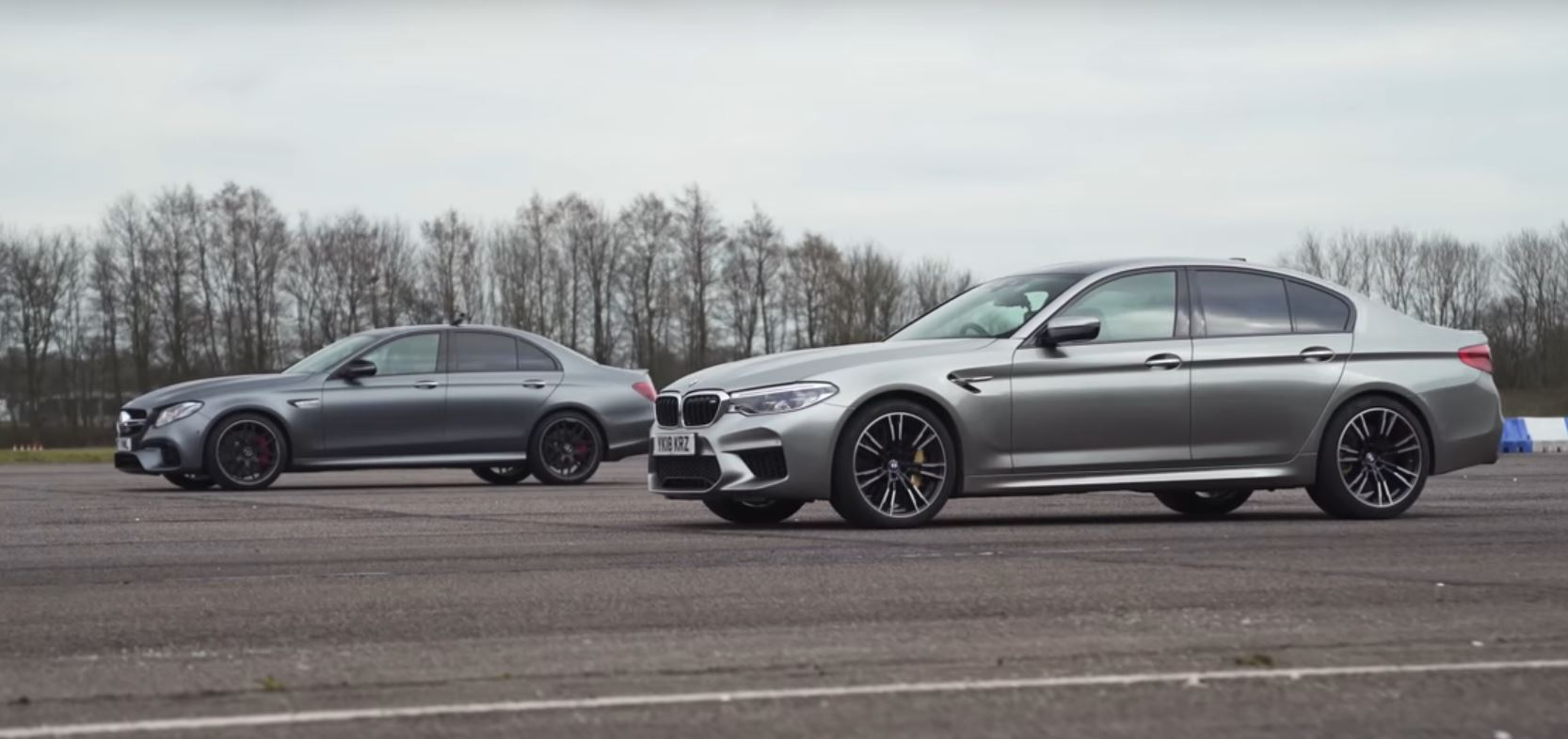 new bmw m5 vs. mercedes-amg e63 s: the awd drag race is finally here